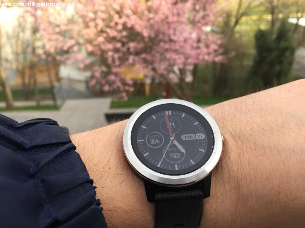cu smartwatch-ul garmin vivoactiv 3 la plimbare