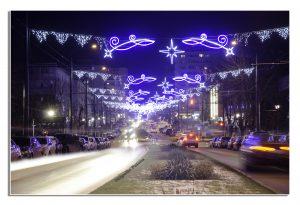 Iluminat festiv in Vaslui