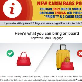 "Ryanair introduce optiunea ""Priority Cabin Bags"""
