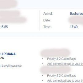 Pana la urma am platit acea taxa, sa pot lua cu mine bagajul in cabina avionului