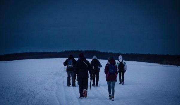 Drumetie de 20km prin zapada, intr-a doua zi de Craciun!