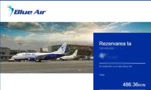 bilet de avion cumparat cu voucher telekom